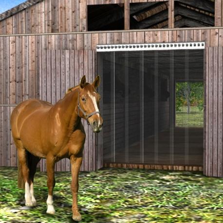 Pferde Streifenvorhang aus weich PVC Rollenware