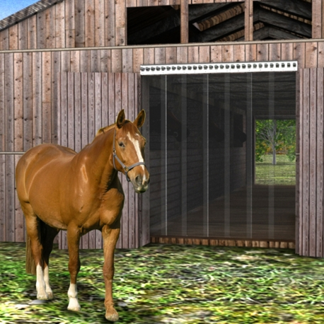 Pferdestall PVC Streifenvorhang / Lamellenvorhang