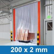 PVC Streifenvorhang 200x2mm