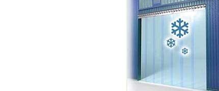 Kälteschutzvorhang transparent Kühlhaus